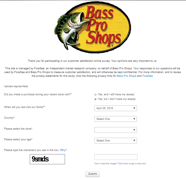 Take Official Bass Pro® Customer Feedback Survey & Win 0 Gift Card
