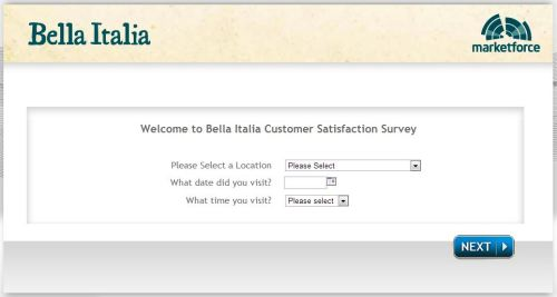 bellaitalia survey