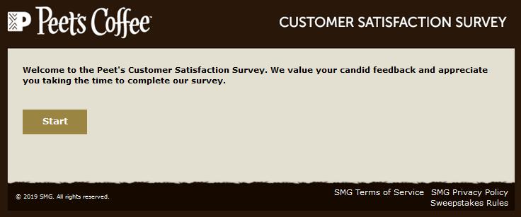 peets coffee survey